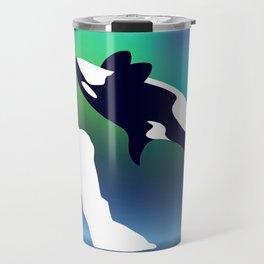 Paper Craft Orca Travel Mug