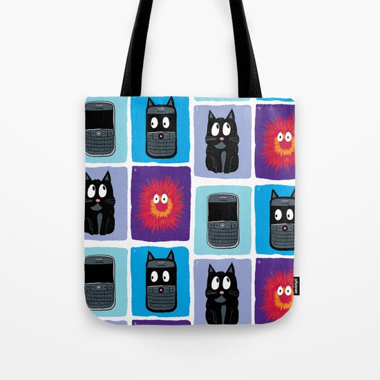Don't Let Your BlackBerry Turn into Exploding Cats.  Tote Bag