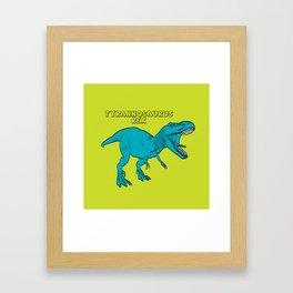 Dino Print T-Rex Framed Art Print