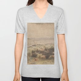 Vintage Pictorial View of Seattle & The Puget Sound Unisex V-Neck