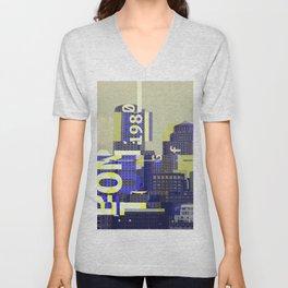 GLITCH CITY #13: Boston Unisex V-Neck