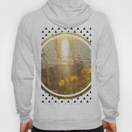 Golden Sunset - small triangle graphic Hoody