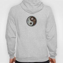 Industrial Steampunk Yin Yang with Gears Hoody
