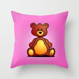 Cuddly Teddy Bear Throw Pillow