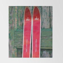 Vintage Skis - Fischer Alu Throw Blanket