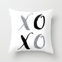 xoxo Throw Pillows featuring XOXO by Indulge My Heart