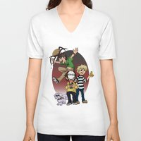 pewdiepie V-neck T-shirts featuring Sup Bro Audience  by Always Dreah Illustration