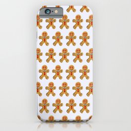 gingerbread men background iPhone Case