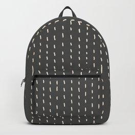 Stitch Pinstripe Putty Grey Backpack
