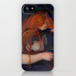 Edvard Munch - Love and Pain (The Vampire) iPhone Case