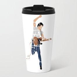 Typography Art of Boss of the Rock Bruce Frederick Springsteen Travel Mug