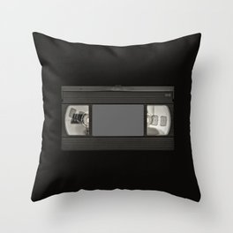 Retro 80's objects - Videotape Throw Pillow