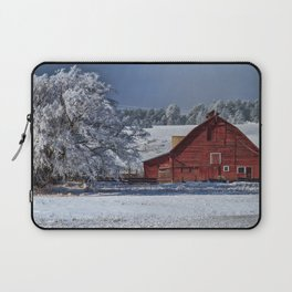 Red On White Laptop Sleeve