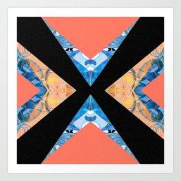 Ultra Crisp Elegant Modern Geometric Color Study Art Print