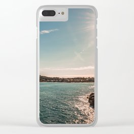 Seacoast of Antibes in a sunny winter day Clear iPhone Case