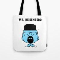 heisenberg Tote Bags featuring Heisenberg by Krikoui