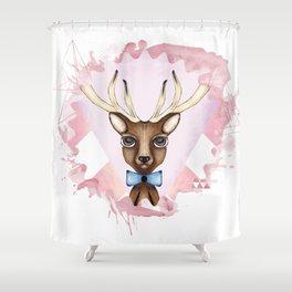 Pink Deer - Ciervo Rosa Shower Curtain