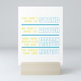 Show Some Respect Tshirt Designs Show some respect Mini Art Print