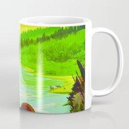 NASA Space Earth Retro Poster Futuristic Explorer Poster Coffee Mug