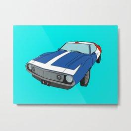 Very Frenchy Classic Car Metal Print
