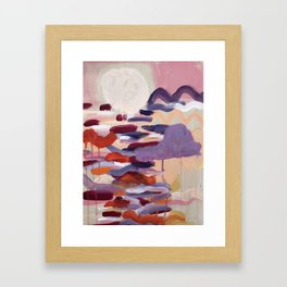 Never go too long without watching the sunset Framed Art Print