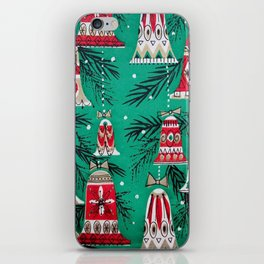 Pretty Retro Christmas iPhone Skin