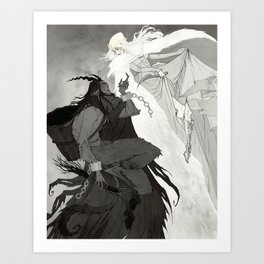 Krampus and Perchta Art Print