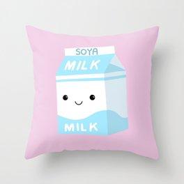 Soya Milk Throw Pillow