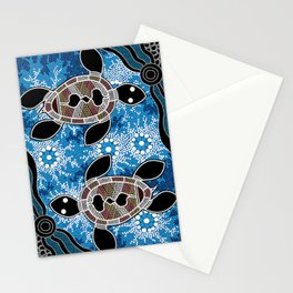 Aboriginal Art - Sea Turtles Stationery Cards