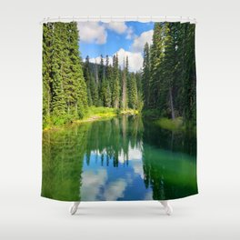 Pacific North West Alpine Lake Shower Curtain