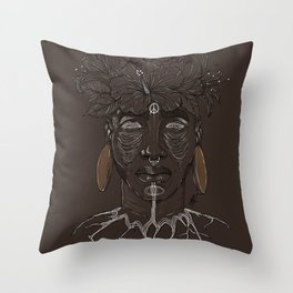 ROOTED. Throw Pillow