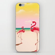 Flamingos on the Beach iPhone & iPod Skin