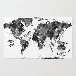world map color splatter 4 Rug