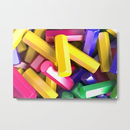 Pile of colorful hexagon details Metal Print
