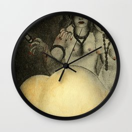 Vintage Erotic Hand Colored Nude large Butt Bum Woman Wall Clock