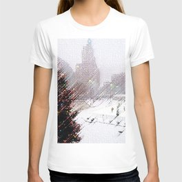 Alex & Ani Skating Center - Providence, Rhode Island Winter Scene Portrait by Jeanpaul T-shirt