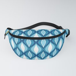 Mid-Century Modern Diamonds, Denim Blues Fanny Pack