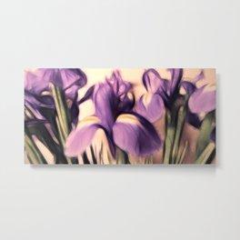 Soft Iris Metal Print
