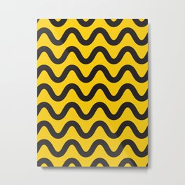 Yellow Ripple Metal Print