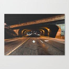 Tunnel Run Canvas Print
