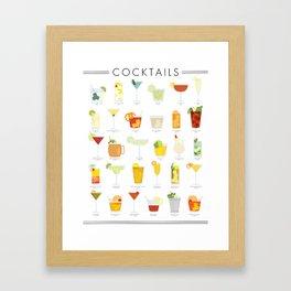 Cocktail Poster Framed Art Print