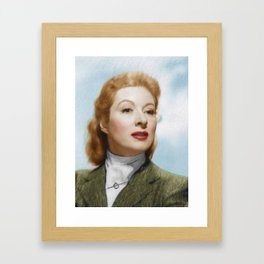 Greer Garson, Vintage Actress Framed Art Print