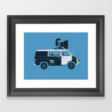 The Blues Brothers' Van Framed Art Print