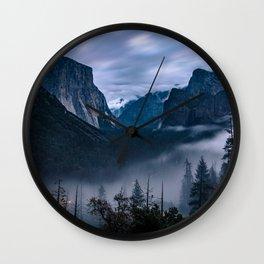 Fog Descends On Yosemite Wall Clock