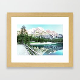 Make Yourself Comfortable Framed Art Print