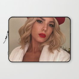 Halsey in Red Laptop Sleeve