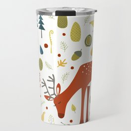 Deer and Forest Things Travel Mug
