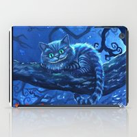 cheshire cat iPad Cases featuring Cheshire Cat by Tom C Carlton