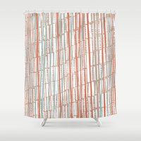 tape Shower Curtains featuring tape by  Ray Athi