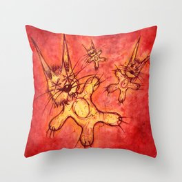 Record Cover for some Jazzed Rabbits Throw Pillow
